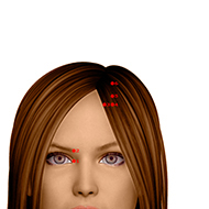 BL03 Bladder Meridian Acupuncture Point - Dermal / Skin level.