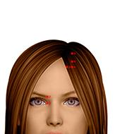 BL03 Bladder Meridian Acupuncture Point - Dermal / Skin level.