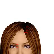 BL06 Bladder Meridian Acupuncture Point - Dermal / Skin level.