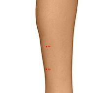 BL58 Bladder Meridian Acupuncture Point - Dermal / Skin level.