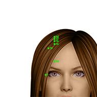 GB13 Gallbladder Meridian Acupuncture Point - Dermal / Skin level.