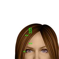 GB17 Gallbladder Meridian Acupuncture Point - Dermal / Skin level.