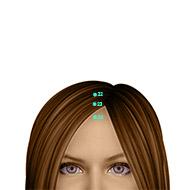 GV22 Governing Vessel Meridian Acupuncture Point - Dermal / Skin level.