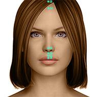 GV25 Governing Vessel Meridian Acupuncture Point - Dermal / Skin level.