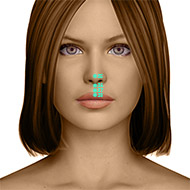 GV28 Governing Vessel Meridian Acupuncture Point - Dermal / Skin level.