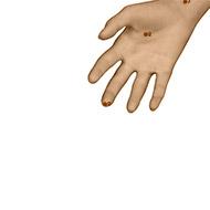 PC09 Pericardium Meridian Acupuncture Point - Dermal / Skin level.